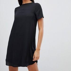 ASOS LBD Little Black Mini Dress Loose Fit 2 XS